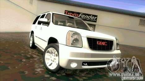 GMC Yukon Denali 2007 pour GTA San Andreas laissé vue