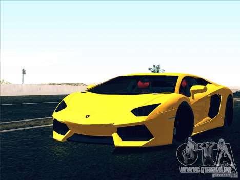 Lamborghini Aventador LP700-4 2011 V1.0 pour GTA San Andreas salon