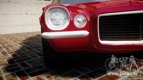 Chevrolet Camaro Z28 pour GTA 4 vue de dessus