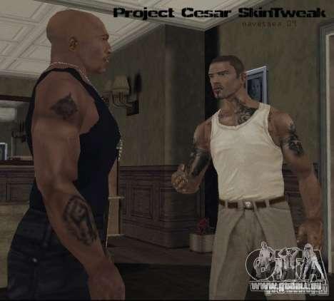 Reteksturizaciâ caractères pour GTA San Andreas quatrième écran