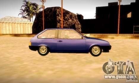 VAZ 2108 v2.0 pour GTA San Andreas vue de côté