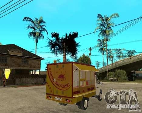 Gazelle-Gaz-3302-Grill für GTA San Andreas zurück linke Ansicht