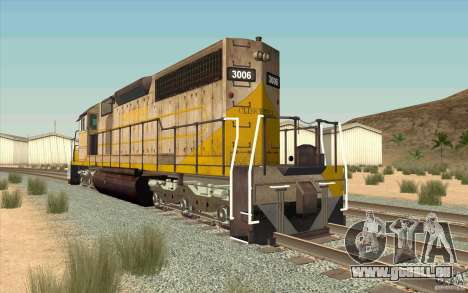 Clinchfield SD40 (Yellow & Grey) für GTA San Andreas zurück linke Ansicht