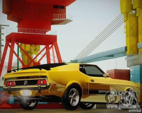 Ford Mustang Mach1 1973 für GTA San Andreas Rückansicht