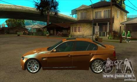 BMW E90 M3 pour GTA San Andreas laissé vue