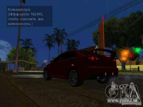 Mitsubishi Lancer Evo X pour GTA San Andreas vue de côté