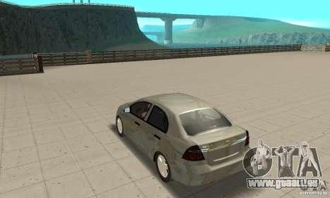 Chevrolet Aveo pour GTA San Andreas sur la vue arrière gauche