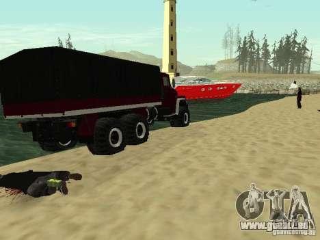 KrAZ 260 pour GTA San Andreas vue arrière