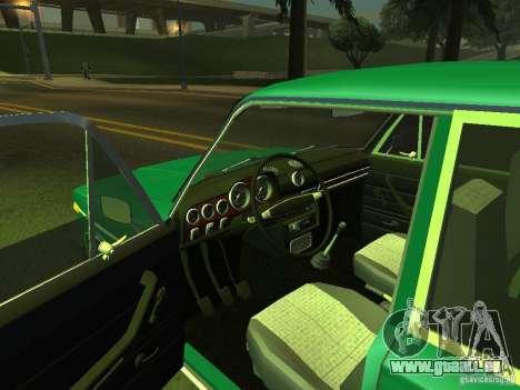 VAZ 2106-siebten Stock für GTA San Andreas Rückansicht