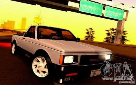 GMC Syclone Stock pour GTA San Andreas sur la vue arrière gauche