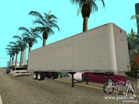 American Trailers Pack für GTA San Andreas zurück linke Ansicht