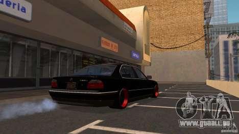 BMW E38 750LI pour GTA San Andreas sur la vue arrière gauche