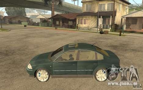 Volkswagen Passat B5+ W8 4Motion pour GTA San Andreas laissé vue