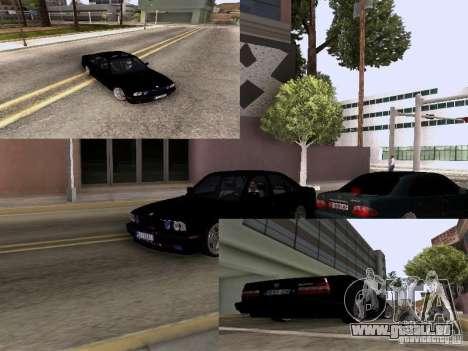 BMW E34 540i pour GTA San Andreas sur la vue arrière gauche