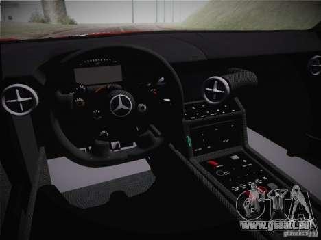 Mercedes-Benz SLS AMG GT3 Black Falcon 2011 für GTA San Andreas Innenansicht