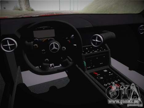 Mercedes-Benz SLS AMG GT3 Black Falcon 2011 pour GTA San Andreas vue intérieure