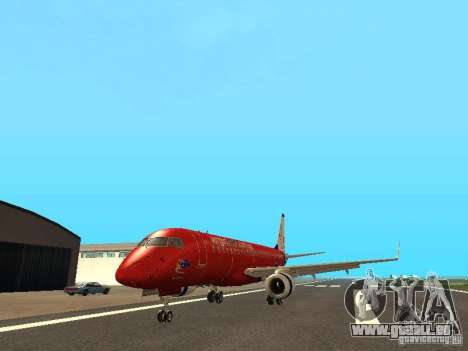 Embraer ERJ 190 Virgin Blue für GTA San Andreas