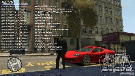 Einfache Trainer Version 6.2 für 1.0.1.0-1.0.0.4 für GTA 4 achten Screenshot