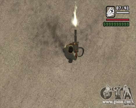 Hand Held M134 Minigun für GTA San Andreas dritten Screenshot