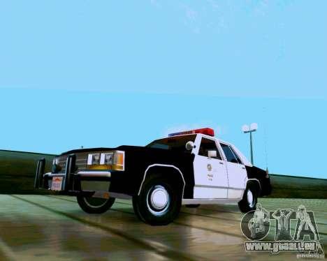 Ford Crown Victoria LTD LAPD 1991 pour GTA San Andreas sur la vue arrière gauche