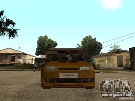 VAZ 2115 Tuning de voiture de Police pour GTA San Andreas vue de droite