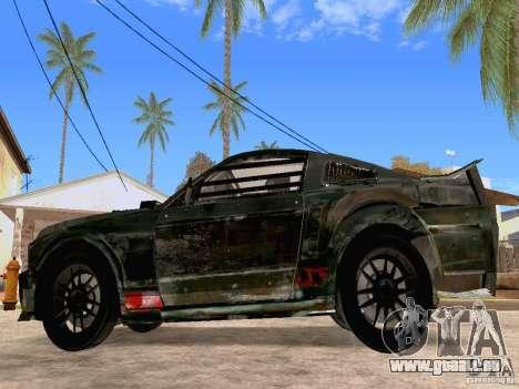 Ford Mustang Death Race pour GTA San Andreas laissé vue
