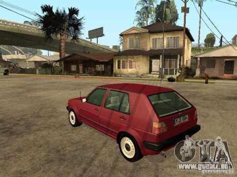 Volkswagen Golf MKII 5dr für GTA San Andreas linke Ansicht