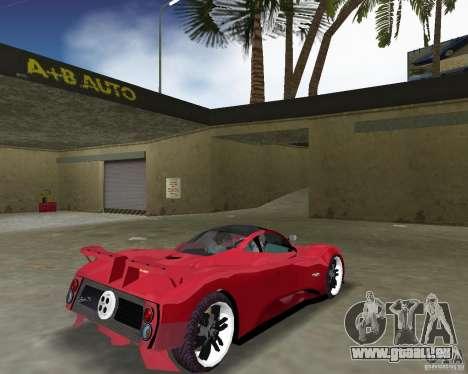 Pagani Zonda S für GTA Vice City rechten Ansicht