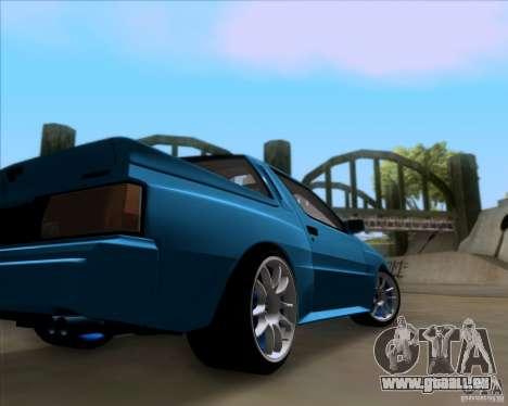 Mitsubishi Starion pour GTA San Andreas vue intérieure