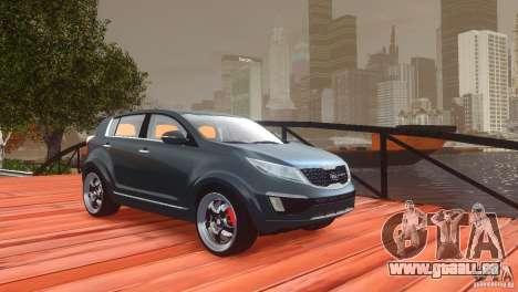 Kia Sportage 2010 v1.0 pour GTA 4 vue de dessus
