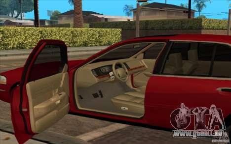 Mercury Grand Marquis 2006 pour GTA San Andreas sur la vue arrière gauche