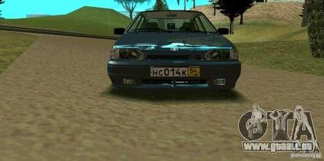 ВАЗ 2114 pour GTA San Andreas vue de dessous