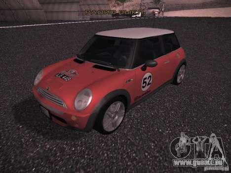 Mini Cooper S für GTA San Andreas Innen