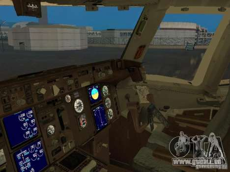 Boeing 767-300 British Airways für GTA San Andreas Innenansicht