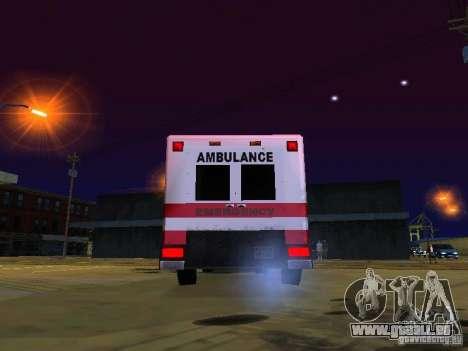 Ambulance 1987 San Andreas pour GTA San Andreas vue arrière