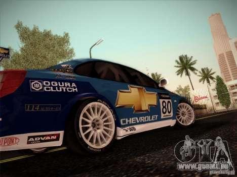 Chevrolet Lacetti WTCC v2 pour GTA San Andreas sur la vue arrière gauche