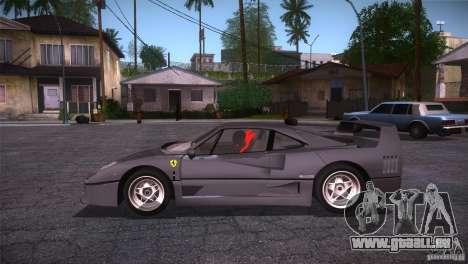 Ferrari F40 für GTA San Andreas linke Ansicht