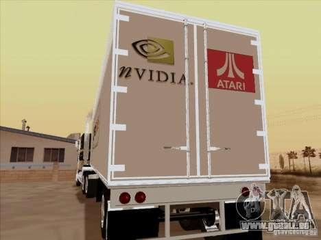 Caband trailer pour GTA San Andreas vue de droite