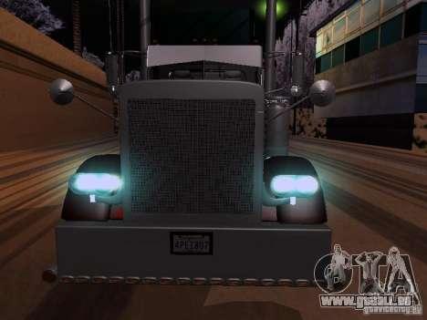 Peterbilt 389 Custom 2009 pour GTA San Andreas sur la vue arrière gauche