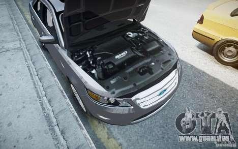 Ford Taurus SHO 2010 pour GTA 4 est une vue de dessous