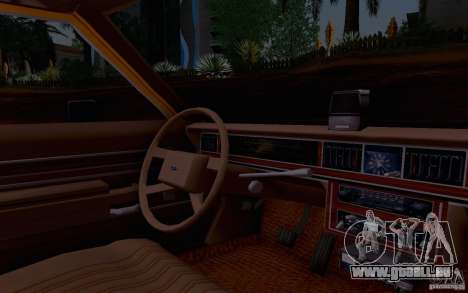 Ford Crown  Victoria LTD 1985 taxi pour GTA San Andreas vue de droite