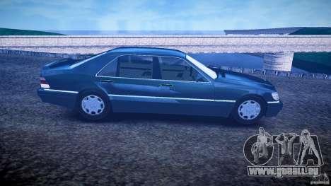 Mercedes Benz SL600 W140 1998 higher Performance für GTA 4 Rückansicht