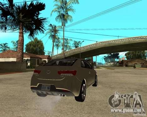 KIA Forte Coup pour GTA San Andreas sur la vue arrière gauche
