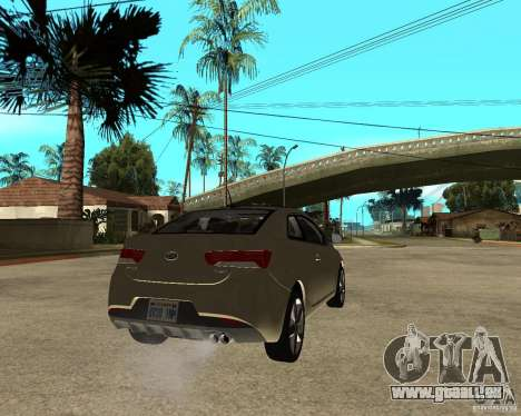 KIA Forte Coup für GTA San Andreas zurück linke Ansicht