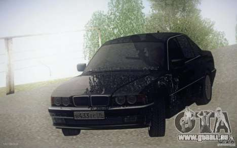 BMW 750i E38 2001 pour GTA San Andreas vue arrière