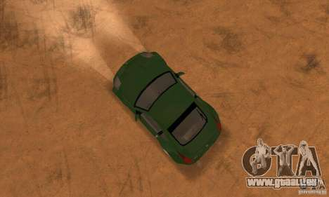 Nissan 350Z stock pour GTA San Andreas vue de droite