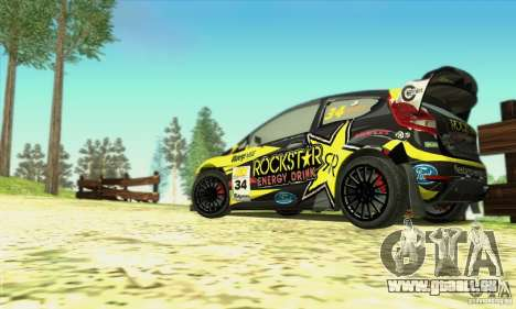 Ford Fiesta Rockstar Energy für GTA San Andreas Rückansicht