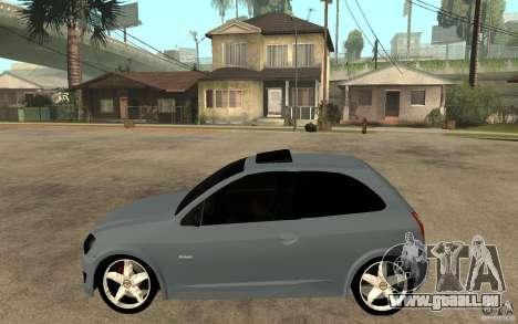 Chevrolet Celta VHC 2011 pour GTA San Andreas laissé vue