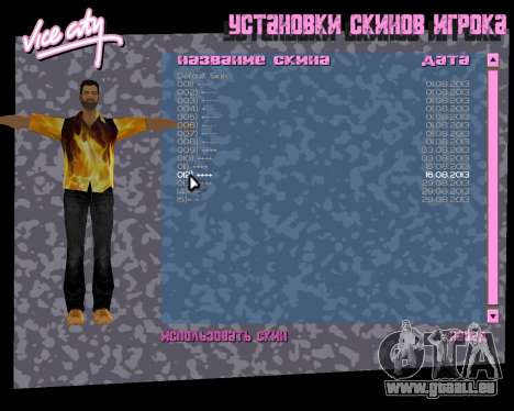 Chemise avec flammes pour le quatrième écran GTA Vice City