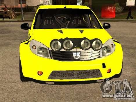 Dacia Sandero Speed Taxi pour GTA San Andreas vue intérieure